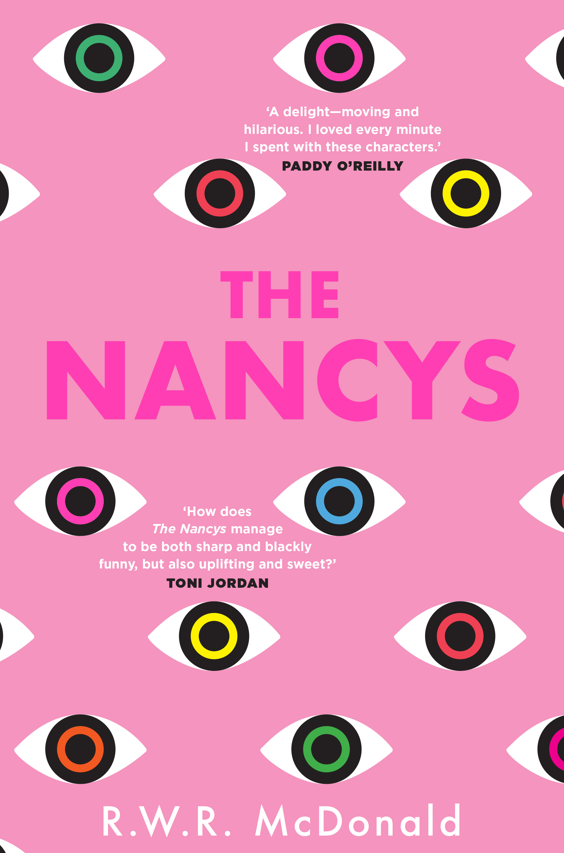 The Nancys pink cover with eyes